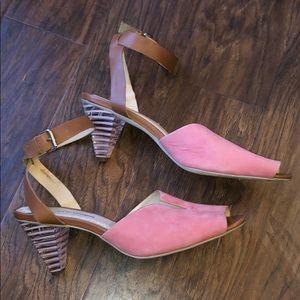 Pilcro & the Letterpress Neali Stripe Lucite Heels
